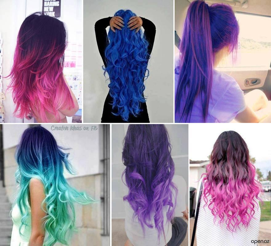 Hairstyles » Different Hair Color Styles